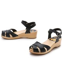 Swedish Hasbeens - Suzanne Debutante Sandals - Black - Lyst