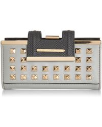 River Island Grey Studded Clip Top Purse - Lyst