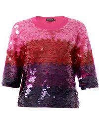 House Of Holland Ombré Sequin-embellished Sweater - Lyst