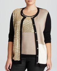 Marina Rinaldi Plus Ursula Sequined Sweater Set - Lyst