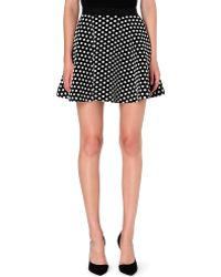 Sandro Jet Polka Dot Short Skirt Black - Lyst