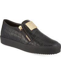 Giuseppe Zanotti Mock Croc Skate Shoes - For Men - Lyst