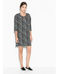 Mango Graffiti Print Dress - Lyst