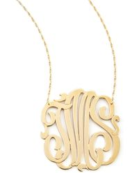 Jennifer Zeuner Threeinitial Pendant Necklace - Lyst