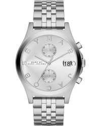 Marc By Marc Jacobs Slim Chrono Stainless Steel Chronograph Bracelet Watch/Silvertone - Lyst