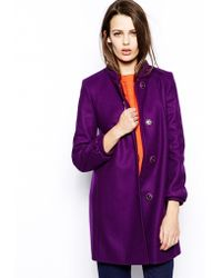 French connection Wonderland Wool Collarless Coat - Lyst