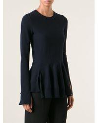 Alexander McQueen Peplum Sweater - Lyst
