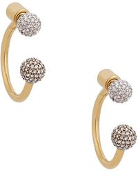 Rachel Zoe - 'kyra' Double Sphere Drop Back Earrings - Lyst