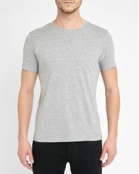 M.studio | Mottled Light-grey Philippe Jersey Round-neck T-shirt | Lyst