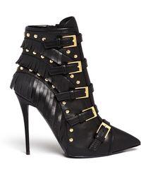 Giuseppe Zanotti Yvette Fringe Stud Leather Boots - Lyst