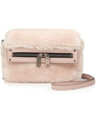 Milly Skylar Fauxfur Mini Crossbody Bag Blush - Lyst