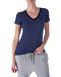 V :: Room High V Neck Tee - Lyst
