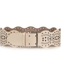 Alaïa Scalloped Lasercut Leather Waist Belt - Lyst