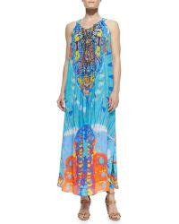 Camilla Silk Printed Drawstring Dress - Lyst