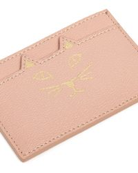 Charlotte Olympia | 'feline' Cat Face Leather Card Holder | Lyst