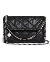 Stella McCartney 'Falabella' Mini Quilted Crossbody Bag - Lyst