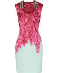 Matthew Williamson Embellished Cotton-blend Dress - Lyst