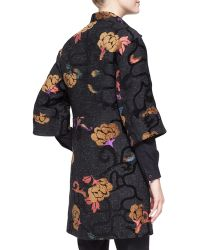 Etro 34sleeve Scroll Floral Snapdown Coat - Lyst