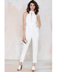 Nasty Gal Cameo Breaking Hearts Cutout Jumpsuit - Lyst