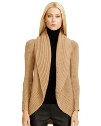 Ralph Lauren Black Label Wool Cashmere Circle Cardigan - Lyst