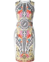 Versace Digital Print Dress multicolor - Lyst