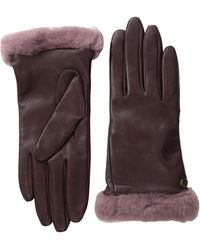 Ugg Classic Leather Shorty Glove - Lyst