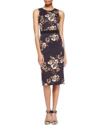 Jason Wu Sleeveless Floral Crepe Sheath Dress - Lyst