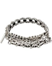 Kenneth Cole Silver Tone Multi Chain Bracelet - Lyst