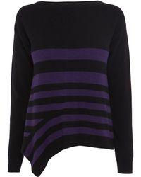Karen Millen Graphic Stripe Sweater - Lyst