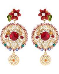 Dolce & Gabbana | Filigree Embellished Hoop Earrings | Lyst
