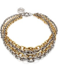 Giles & Brother Twotone Pave Multichain Necklace - Lyst
