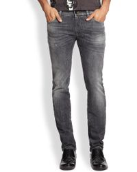 Dolce & Gabbana Sandblasted Stretch Denim Jeans - Lyst