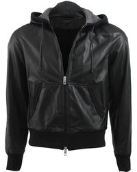 Rag & Bone Christopher Leather Hoodie - Lyst