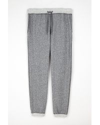 Velvet By Graham & Spencer Thorne Contrast Fleece Jogger gray - Lyst