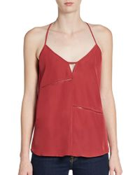 Rory Beca T-Strap Back Crepe Tank Top - Lyst