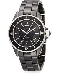 Saks Fifth Avenue Ceramic Round Rotating Bezel Watch - Lyst