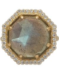 Jamie Wolf - Gold Labradorite And Diamond Octagon Ring - Lyst
