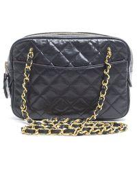 Chanel Pre-Owned Black Vintage Camera Bag - Lyst