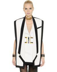 Balmain Oversized Two Tone Wool Vest - Lyst