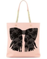 Betsey Johnson Flock-A-Bows Tote - Lyst