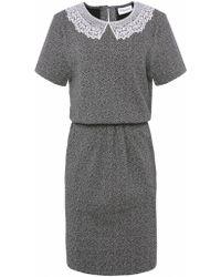 Ganni Lace Collar Dress - Lyst