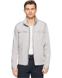 Calvin Klein Hidden Hood Jacket gray - Lyst
