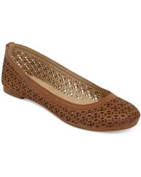 Lucky Brand Eastly Laser Cut Flats - Lyst