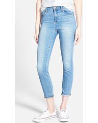 Madewell 'High Riser' Crop Skinny Jeans blue - Lyst