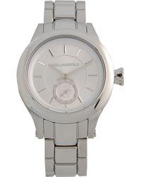 Karl Lagerfeld Silver Wrist Watch - Lyst