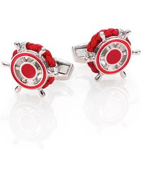 Tateossian Leathe Timone Cuff Links - Lyst