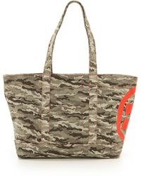 Tory Burch Canvas Tote Camojasper - Lyst