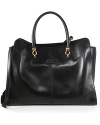Tod's Large Satchel - Lyst