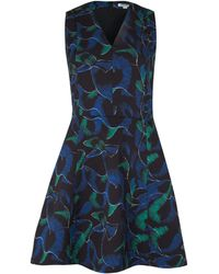 Kenzo Navy Abstract Print Fit Flare Dress - Lyst
