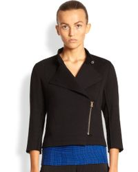 Issey Miyake Le Pain A-poc Side-zip Moto Jacket - Lyst